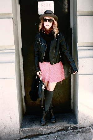 vintage dress - vintage hat - H&M jacket - Emma Cook x TOPSHOP heels