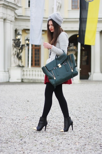 31 Phillip Lim bag - asos boots - asos dress - asos blazer - asos accessories
