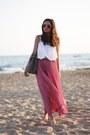H-m-top-romwe-skirt-romwe-belt-zara-sandals
