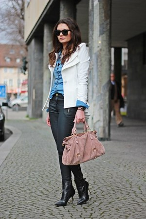 light pink Miu Miu bag - off white lookbookstore blazer