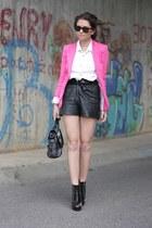 Zara blazer - shorts - H&M blouse