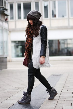 black Sheinside jacket - brick red Michael Kors bag