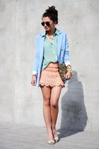 salmon StylebyMarina skirt - light blue Nelly pumps