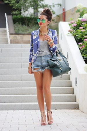 blue Sheinside blazer