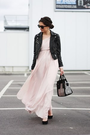 nude lookbookstore dress - black lookbookstore bag - black Georgia Rose pumps