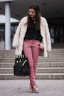 Romwe-coat-pimkie-jeans-michael-kors-bag-dune-pumps
