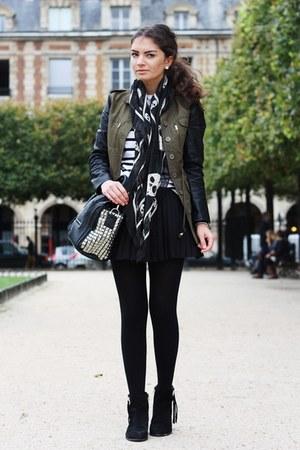 black Sheinside jacket - black lookbookstore bag