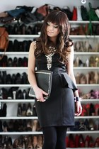 black Dorothy Perkins dress - black VJ Style bag - light pink Deichmann pumps