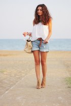H&M shorts - Zara bag - H&M blouse