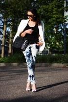 blue vintage jeans - black lookbookstore bag
