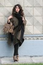 light brown satchel River Island bag - light brown lace up Matiko wedges - camel