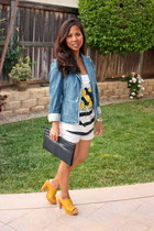blue banana republic jacket - white J Crew shorts - navy Anthropologie top