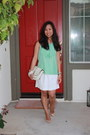 Aquamarine-banana-republic-top-white-j-crew-skirt-camel-tory-burch-pumps