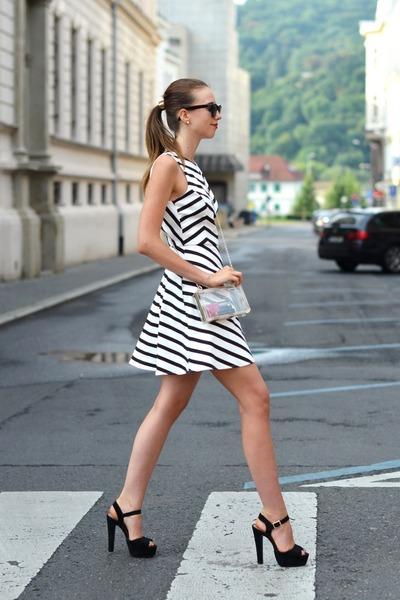 gold asos ring - white Zara dress - white Choies bag - brown Ray Ban sunglasses