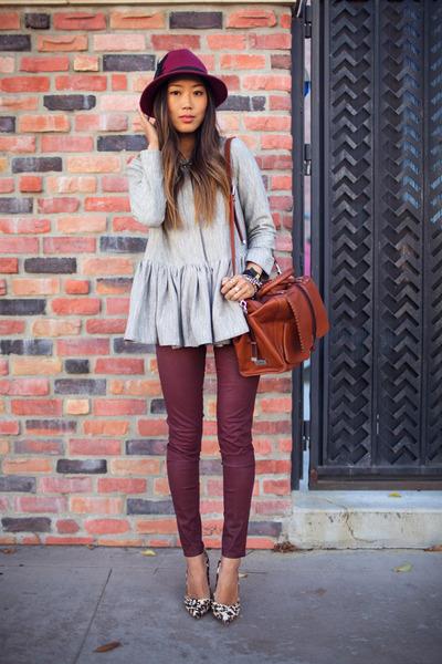 maroon romwe pants