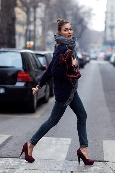 brick red YSL heels