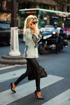 sky blue H&M jacket