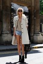 beige Burberry coat