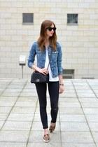 blue Mango jacket - black Topshop jeans - black Chanel bag