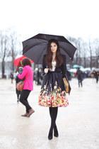 Big floral skirt