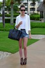White-sheinside-blazer-black-celine-bag-blue-sheinside-shorts