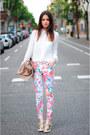 Ivory-studded-zara-blouse