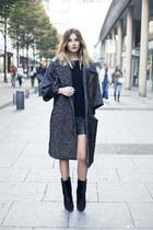 charcoal gray romwe coat