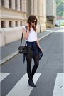 black vagabond boots - black H&M tights - black PROENZA SCHOULER bag