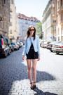 Light-blue-zara-jacket-white-choies-bag-dark-brown-ray-ban-sunglasses
