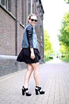 black Topshop heels