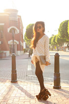 brown asos heels