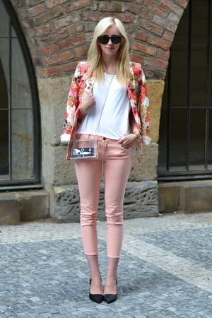 vjstyle blazer - Choies bag - H&M top - Zara heels - Zara pants