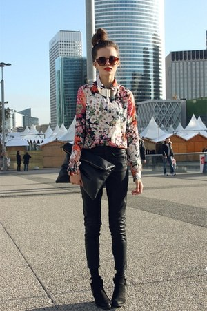 ruby red H&M blouse