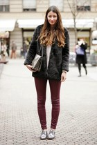 brick red Zara pants
