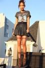 Heather-gray-jennyfer-tie-black-topshop-skirt-tawny-forever-21-heels