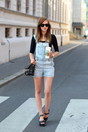 black PROENZA SCHOULER bag - light blue Topshop shorts