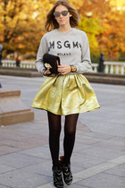 gold romwe skirt