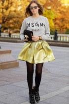 gold romwe skirt