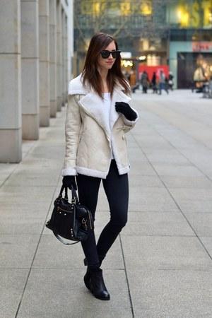 beige Choies jacket - black vagabond boots - black Topshop jeans