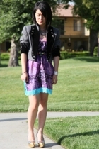 Custo Barcelona dress - vintage jacket - Miu Miu shoes