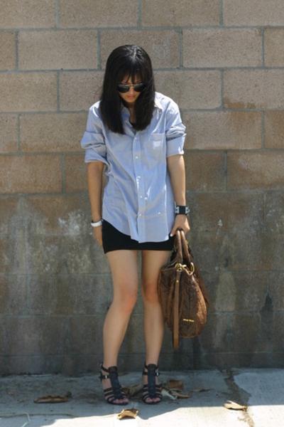 aa skirt - Gap shirt - Nine West shoes - Miu Miu purse