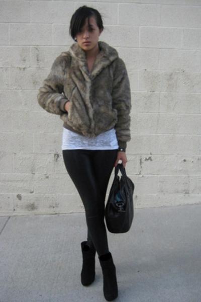 H&M jacket - Forever21 t-shirt - aa leggings pants - Zara shoes