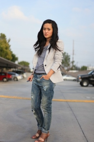 Zara jeans - Zara blazer - Zara shoes - American Apparel shirt