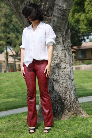 Vtg shirt - paris blue pants - Marni shoes