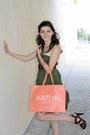 Army-green-max-mara-skirt-dark-brown-madden-girl-sandals-brown-vintage-belt