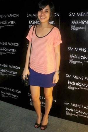 sheer random top - bandage Forever 21 skirt - Parisian pumps