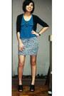 Silver-animal-print-forever-21-skirt-black-peep-toe-australian-heels