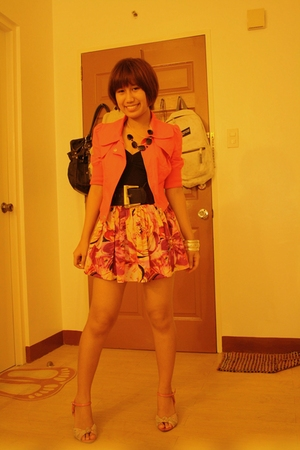 Forever21 jacket - H&M top - Forever21 skirt - Balancoire shoes - 168 belt - acc