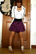 purple H&M skirt - white gladiators People are People shoes