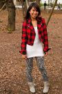Red-forever21-jacket-white-forever21-top-black-the-ramp-crossings-leggings-